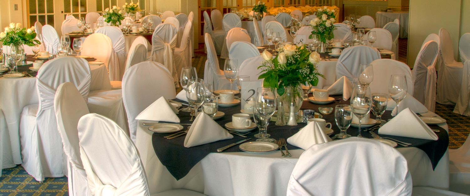 highland country club banquet reception table setting