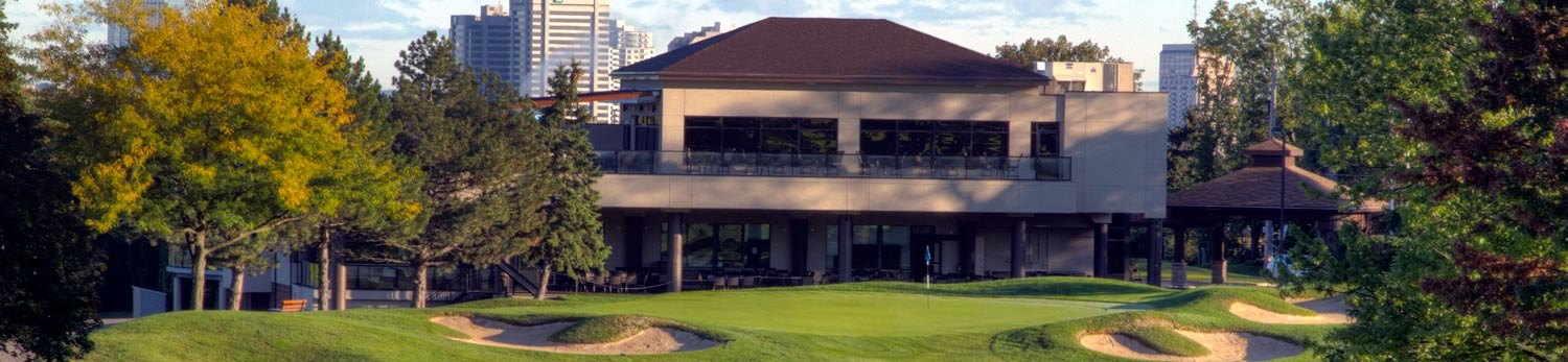 Highland Country Clubhouse from the golf course